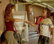 Jessica Alba and Lil Romeo dance their hearts out in Honey.