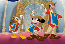 Disney's The Three Musketeers, starring Mickey, Donald and Goofy is now available on DVD.