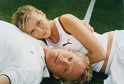 Kirsten Dunst and Paul Bettany star in the 2004 tennis movie, Wimbledon.