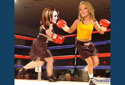 Who do you think would win in a celeb boxing match between Hilary Duff and Lindsay Lohan?