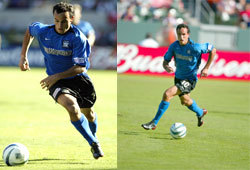 Picture of Landon Donovan, star of the San Jose Earthquakes of Major League Soccer.