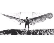 Picture of one of the first hang gliders.