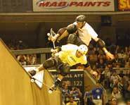 Tony Hawk and Andy Macdonald always wear a helmet.