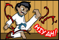 Simon blogs about taking karate lessons and his new teen crush in his free online teen journal.