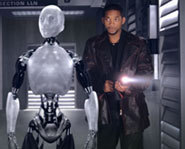 Photos from the movie I, Robot starring Will Smith.
