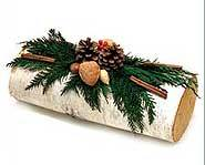 Yule Logs aren't always burned. They are decorations too.