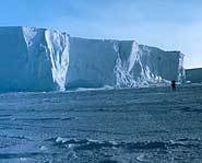 The Ross Ice Shelf at the Bay of Whales.