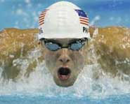 Picture of Michael Phelps, one of the top athletes of 2004.