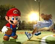 Nintendo's biggest video game characters compete against NBA all-stars in NBA Street V3 for the Nintendo Gamecube!