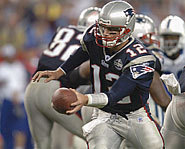 Picture of Tom Brady, quarterback of the New England Patriots.