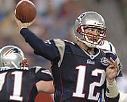 Photo of Tom Brady, NFL quarterback with the New England Patriots.