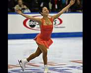 Picture of US figure skater, Michelle Kwan.