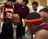 Samuel L. Jackson stars in the basketball movie, Coach Carter.