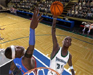 Ben Wallace of the Detroit Pistons is one of the best shotblockers in the NBA.