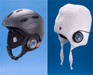 Burton and Motorola have created a boarding helmet with a built-in cell phone.