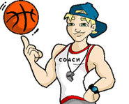 Quiz the Coach for basketball drills and tips and other sports and fitness advice.