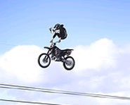 Rider gets massive air in the MotoX event at the Winter X Games.