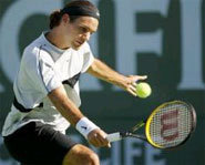 Picture of tennis player Roger Federer.