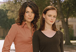 Lauren Graham and Alexis Bledel star in the WB drama, Gilmore Girls.
