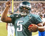 Photo of Philadelphia Eagles' quarterback, Donovan McNabb.