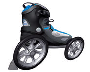 The LandRoller is a newly developed skate for riding on pavement and paths.