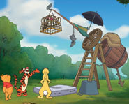 Winnie the Pooh and friends try to capture a Heffalump in Pooh's Heffalump Movie.