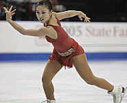 Picture of figure skater, Michelle Kwan at US Figure Skating Championships.