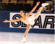 Photo of figure skater, Michelle Kwan.