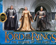 Picture of the Lord Of the Rings Coronation Gift Pack with LOTR Action Figures.