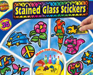 Stained Glass Stickers are a fun art project.
