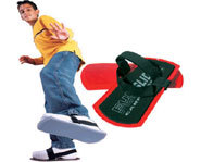 With Fun Slides Carpet Skates, you can enjoy sliding fun in your carpeted house.
