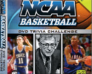 Test your knowledge of NCAA college basketball with Snap TV's DVD college basketball trivia game.