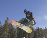 Picture of snowboarder from the Gravity Games.