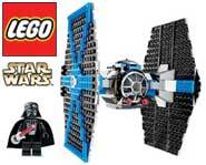 We review the LEGO Star Wars TIE Fighter kit. With Darth Vader and glowing lightsaber!