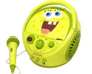 You can sing along and play your favorite songs with a SpongeBog SquarePants Portable CD Player and Karaoke System.