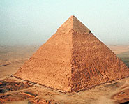 Instead of building a pyramid out of huge stones like the ancient Egyptians did, make it out of sugar cubes!