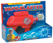 The Vapo-Blaster fires bursts of bubbles and vapor.