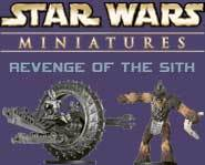 We have a sneak peek of Grievous's Wheel Bike from the Star Wars Miniatures: Revenge of the Sith game right here!