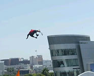 Picture of Danny Way getting big air at the 2004 X Games.