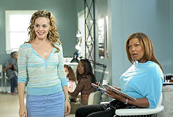 Queen Latifah, Alicia Silverstone and Kevin Bacon star in Beauty Shop.