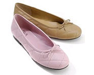 Ballet inspired shoes are a hot look this spring.