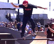 Photo of Eric Koston at the 2004 X Games.