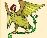 Harpies are winged monsters with the face of an ugly old woman and the body of a bird.