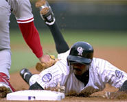 Picture of player stealing a base.