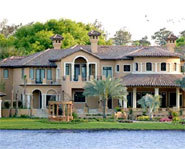 Picture of mansion in Florida neighborhood where many famous athletes and celebs own homes.