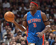 Photo of Ben Wallace of the Detroit Pistons.