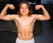 Picture of Richard Sandrak, the World's Strongest Boy.