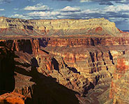 The Grand Canyon was created from millions of years of wind and water erosion.