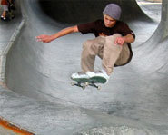 Photo of pro skateboarder, Tosh Townend.