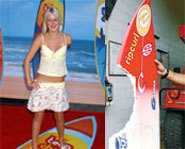 Picture of Bethany Hamilton, who lost her arm in a shark attack.